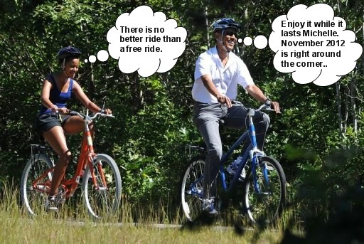 michelle obama riding the taxpayers